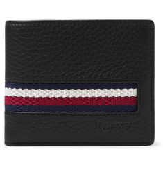 Mulberry Webbing-Trimmed Full-Grain Leather Billfold Wallet