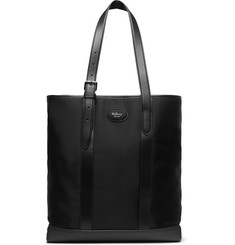 Mulberry Heritage Leather-Trimmed Nylon Tote