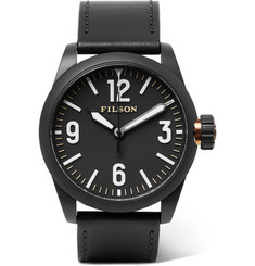 Filson - Field Stainless Steel and Leather Watch