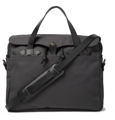 Filson Original Leather-Trimmed Twill Briefcase