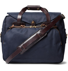 Filson Leather-Trimmed Twill Briefcase
