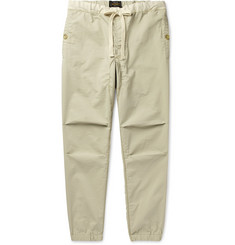Beams Plus - Slim-Fit Tapered Grosgrain-Trimmed Ripstop Drawstring Trousers