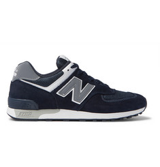 New Balance M576 Suede and Mesh Sneakers