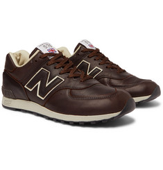 New Balance - M576 Leather and Mesh Sneakers