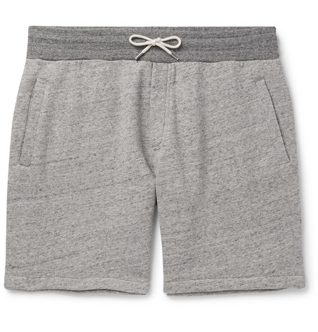 Mélange Loopback Cotton Jersey Shorts by Mr P.