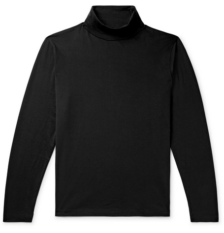Pima Cotton Jersey Rollneck T Shirt by Handvaerk