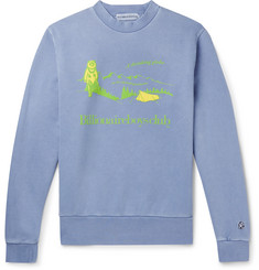 Billionaire Boys Club  Printed Appliquéd Loopback Cotton-Jersey Sweatshirt