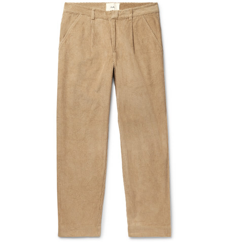 Signal Tapered Pleated Cotton Corduroy Trousers by Folk