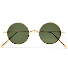 Cubitts - Guilford Round-Frame Gold-Tone Sunglasses