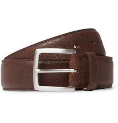3.5cm Brown 1786 Russian Hide Vegetable-tanned Cross-grain Leather Belt - Brown