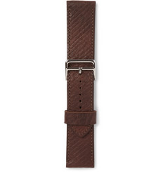 George Cleverley 1786 Russian Hide Vegetable-Tanned Cross-Grain Leather Watch Strap