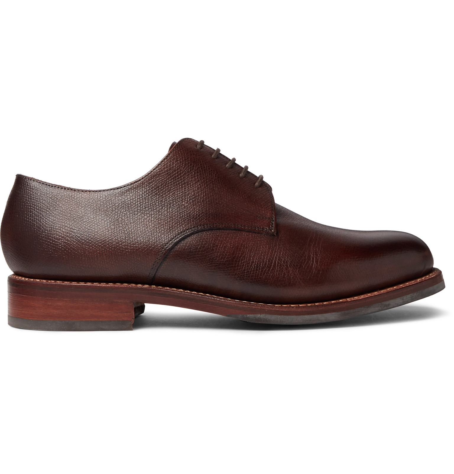 ef79d3dff0a Grenson - Curt Hand-Painted Full-Grain Leather Derby Shoes