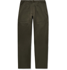 Monitaly Wide-Leg Vancloth Cotton-Sateen Trousers