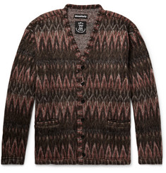 Monitaly Brushed-Jacquard Cardigan
