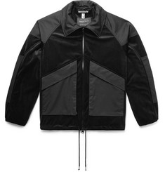 Monitaly Ridge Panelled Velvet and Vancloth Cotton Jacket