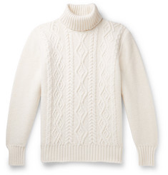Inis Meáin - Slim-Fit Cable-Knit Merino Wool Rollneck Sweater