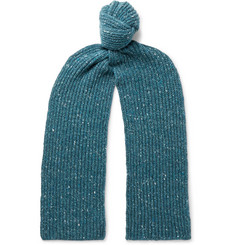 Inis Meáin Ribbed Merino Wool and Cashmere-Blend Scarf
