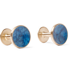Alice Made This - Bayley Gold-Tone Prussian Patina Cufflinks