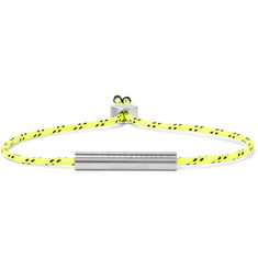 Alice Made This Charlie Striped Neon Cord and Stainless Steel Bracelet