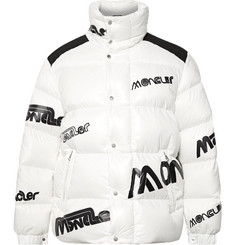 Moncler Genius 2 Moncler 1952 Quilted Logo-Print Glossed-Shell Down Jacket
