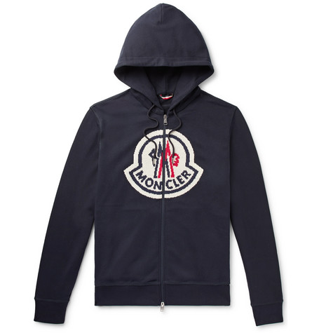 Moncler Genius 2 Moncler 1952 Logo-Intarsia Loopback Cotton-Jersey Zip-Up Hoodie