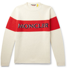 Moncler Genius 2 Moncler 1952 Logo-Embroidered Colour-Block Wool Sweater