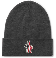 Moncler Grenoble Logo-Appliquéd Virgin Wool Beanie