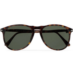 Persol Aviator-Style Tortoiseshell Acetate Polarised Sunglasses
