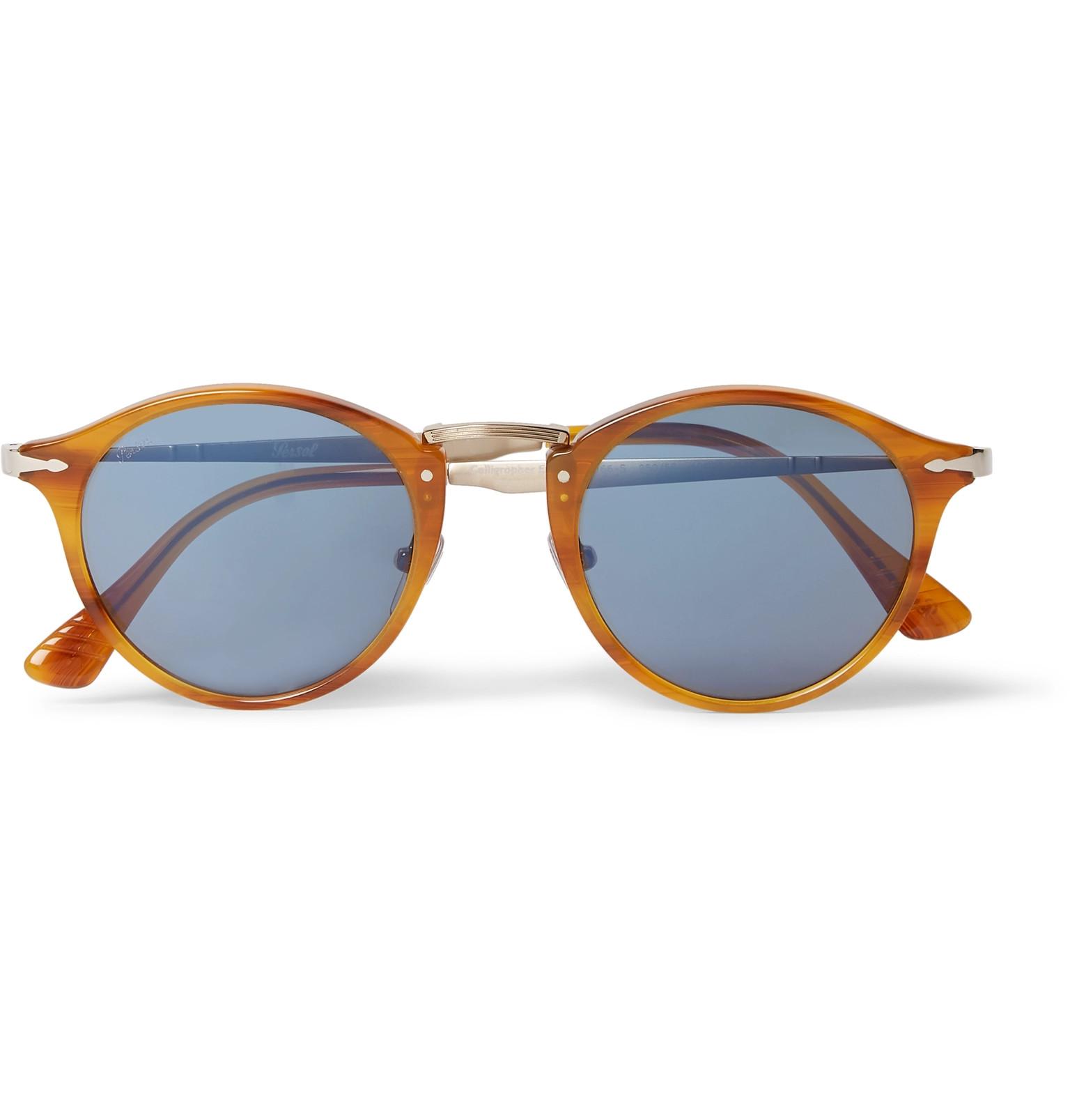 963fdafbfeaa Persol - Round-Frame Tortoiseshell Acetate and Gold-Tone Sunglasses