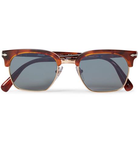 3917c72c52c0e Persol - D-Frame Tortoiseshell Acetate and Gold-Tone Sunglasses
