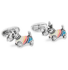 Paul Smith - Silver-Tone and Enamel Cufflinks
