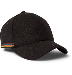 Paul Smith Stripe-Trimmed Wool-Tweed Baseball Cap