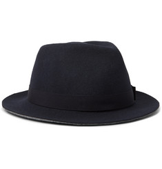 Paul Smith Grosgrain-Trimmed Wool-Blend Felt Fedora