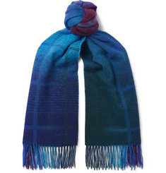Paul Smith Andromeda Fringed Dégradé Wool Scarf