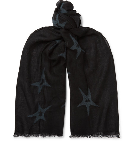 Paul Smith Needle-Punched Wool Scarf