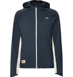 Tracksmith Session Mesh-Panelled Stretch-Jersey Hooded Jacket