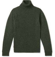 MAN 1924 Serpentine Mélange Shetland Wool Rollneck Sweater