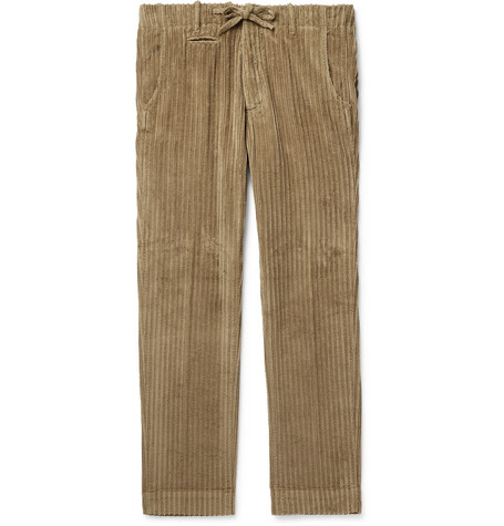 MAN 1924 Tomi Cotton-Corduroy Drawstring Trousers