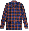 Drake's Anderson Checked Cotton and Wool-Blend Overshirt