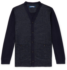 Junya Watanabe Panelled Wool-Blend Boucle? and Jersey Cardigan