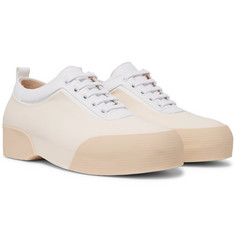 Dries Van Noten Leather-Trimmed Rubber Sneakers