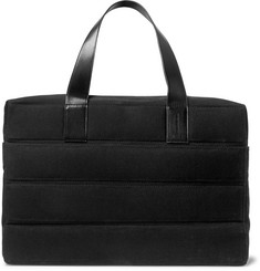Dries Van Noten Leather-Trimmed Quilted Canvas Holdall