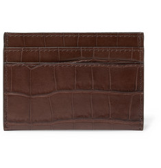 Dries Van Noten Croc-Effect Leather Cardholder