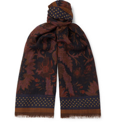 Dries Van Noten Printed Wool Scarf
