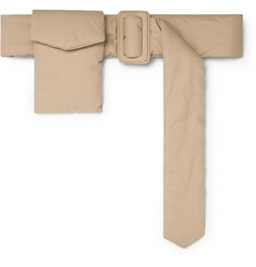 Dries Van Noten 7.5cm Beige Padded Cotton Belt With Detachable Pouch
