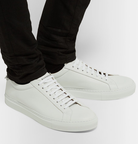 Givenchy Men S Urban Street Sheep Leather Sneakers In 100