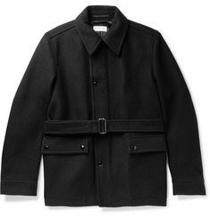 Dries Van Noten Belted Wool-Blend Jacket
