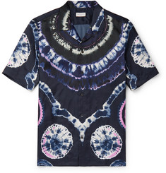 Dries Van Noten - Camp-Collar Tie-Dyed Satin-Twill Shirt