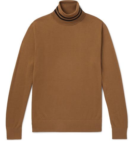 Striped Merino Wool Rollneck Sweater by Dries Van Noten