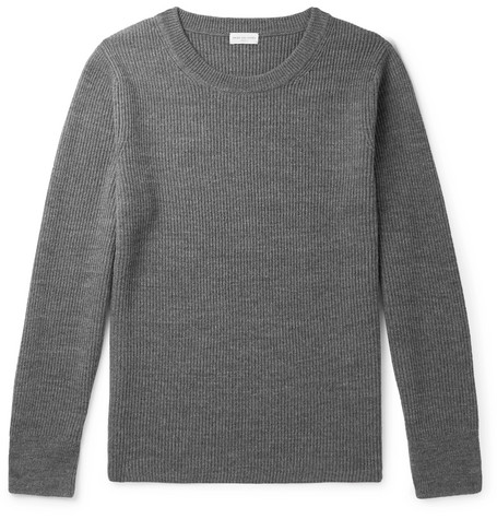 Ribbed Merino Wool Sweater by Dries Van Noten